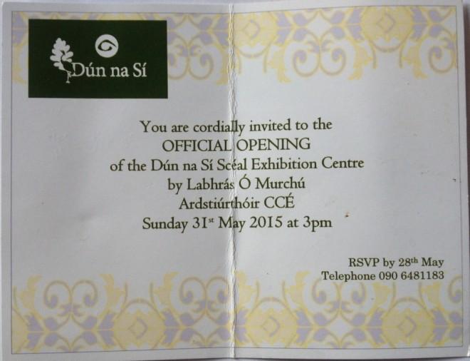 Dun na Si official opening